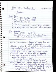 HIST 151 Lecture Notes - Lecture 21: Ender Wiggin, Amen