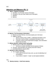 PSYCH 1101 Lecture Notes - Lecture 15: Fokker E.Ii, Amygdala, Sensory Memory