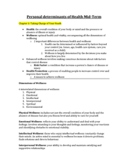 Health Sciences 1001A/B Study Guide - Final Guide: Valproate, Progressive Muscle Relaxation, Alprazolam