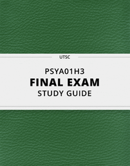 [PSYA01H3] - Final Exam Guide - Ultimate 88 pages long Study Guide!