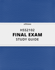 [HSS2102] - Final Exam Guide - Ultimate 76 pages long Study Guide!