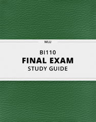 [BI110] - Final Exam Guide - Ultimate 38 pages long Study Guide!