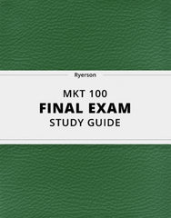 MKT 100 Study Guide - Comprehensive Final Guide: Eth, Tim Hortons, Unique Selling Proposition