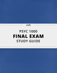 [PSYC 1000] - Final Exam Guide - Everything you need to know! (34 pages long)