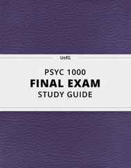 [PSYC 1000] - Final Exam Guide - Ultimate 114 pages long Study Guide!