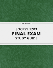[SOCPSY 1Z03] - Final Exam Guide - Ultimate 74 pages long Study Guide!