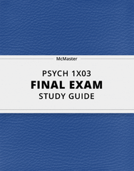 [PSYCH 1X03] - Final Exam Guide - Comprehensive Notes for the exam (37 pages long!)