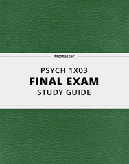 [PSYCH 1X03] - Final Exam Guide - Comprehensive Notes for the exam (128 pages long!)