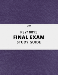 [PSY100Y5] - Final Exam Guide - Ultimate 46 pages long Study Guide!