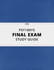 [PSY100Y5] - Final Exam Guide - Comprehensive Notes for the exam (23 pages long!)
