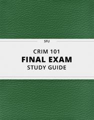 [CRIM 101] - Final Exam Guide - Comprehensive Notes for the exam (44 pages long!)