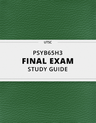 [PSYB65H3] - Final Exam Guide - Comprehensive Notes for the exam (129 pages long!)