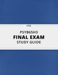 [PSYB65H3] - Final Exam Guide - Ultimate 105 pages long Study Guide!