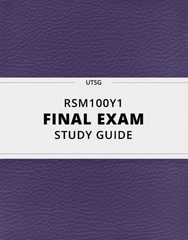 [RSM100Y1] - Final Exam Guide - Everything you need to know! (43 pages long)