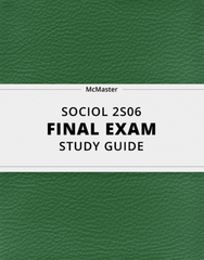 [SOCIOL 2S06] - Final Exam Guide - Comprehensive Notes for the exam (39 pages long!)