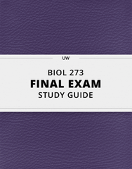 [BIOL 273] - Final Exam Guide - Everything you need to know! (29 pages long)