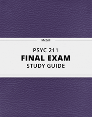[PSYC 211] - Final Exam Guide - Everything you need to know! (37 pages long)