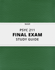 [PSYC 211] - Final Exam Guide - Everything you need to know! (93 pages long)