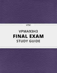 [VPMA93H3] - Final Exam Guide - Everything you need to know! (27 pages long)