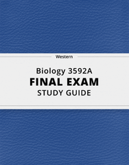 [Biology 3592A] - Final Exam Guide - Ultimate 111 pages long Study Guide!