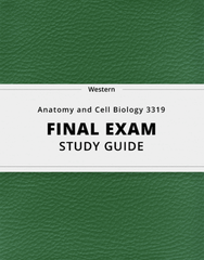[Anatomy and Cell Biology 3319] - Final Exam Guide - Ultimate 80 pages long Study Guide!