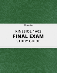 [KINESIOL 1A03] - Final Exam Guide - Comprehensive Notes for the exam (72 pages long!)
