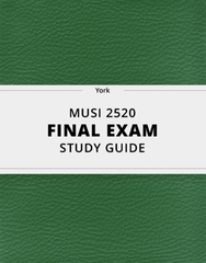 [MUSI 2520] - Final Exam Guide - Ultimate 26 pages long Study Guide!