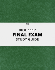 [BIOL 1117] - Final Exam Guide - Everything you need to know! (39 pages long)