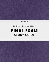[Political Science 1020E] - Final Exam Guide - Everything you need to know! (89 pages long)