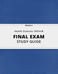 [Health Sciences 1001A/B] - Final Exam Guide - Everything you need to know! (123 pages long)
