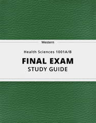 [Health Sciences 1001A/B] - Final Exam Guide - Comprehensive Notes for the exam (73 pages long!)