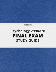 [Psychology 2990A/B] - Final Exam Guide - Everything you need to know! (151 pages long)