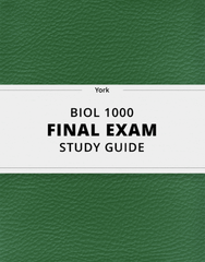 [BIOL 1000] - Final Exam Guide - Comprehensive Notes for the exam (26 pages long!)