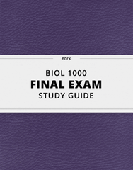 [BIOL 1000] - Final Exam Guide - Everything you need to know! (127 pages long)