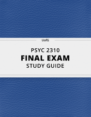 [PSYC 2310] - Final Exam Guide - Everything you need to know! (59 pages long)
