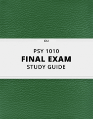 PSY 1010 Study Guide - Comprehensive Final Guide: Sensory System, Sleep Deprivation, James Mckeen Cattell