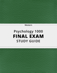 [Psychology 1000] - Final Exam Guide - Ultimate 86 pages long Study Guide!