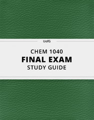 [CHEM 1040] - Final Exam Guide - Everything you need to know! (48 pages long)