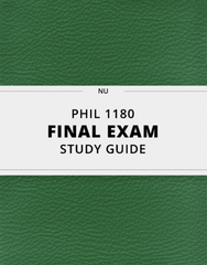 [PHIL 1180] - Final Exam Guide - Everything you need to know! (31 pages long)