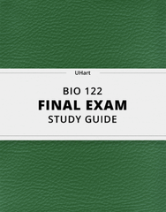 [BIO 122] - Final Exam Guide - Everything you need to know! (85 pages long)