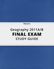 [Geography 2011A/B] - Final Exam Guide - Ultimate 26 pages long Study Guide!
