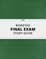 [BIOA01H3] - Final Exam Guide - Comprehensive Notes for the exam (173 pages long!)