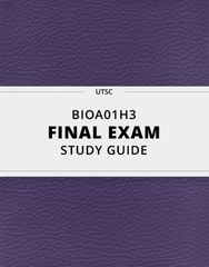 [BIOA01H3] - Final Exam Guide - Ultimate 40 pages long Study Guide!
