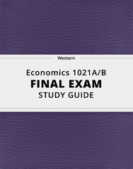 [Economics 1021A/B] - Final Exam Guide - Ultimate 43 pages long Study Guide!