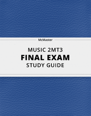 [MUSIC 2MT3] - Final Exam Guide - Ultimate 28 pages long Study Guide!