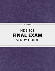 [HDE 101] - Final Exam Guide - Comprehensive Notes for the exam (26 pages long!)