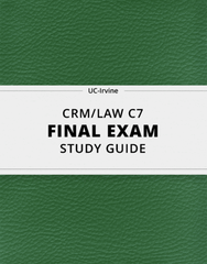 [CRM/LAW C7] - Final Exam Guide - Everything you need to know! (68 pages long)