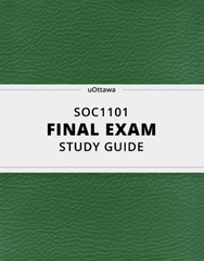 [SOC1101] - Final Exam Guide - Comprehensive Notes for the exam (51 pages long!)