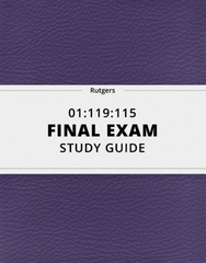[01:119:115] - Final Exam Guide - Everything you need to know! (23 pages long)