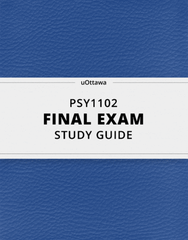 PSY 1102 Study Guide - Comprehensive Final Guide: Frontal Lobe, Theory Of Multiple Intelligences, Fluid And Crystallized Intelligence